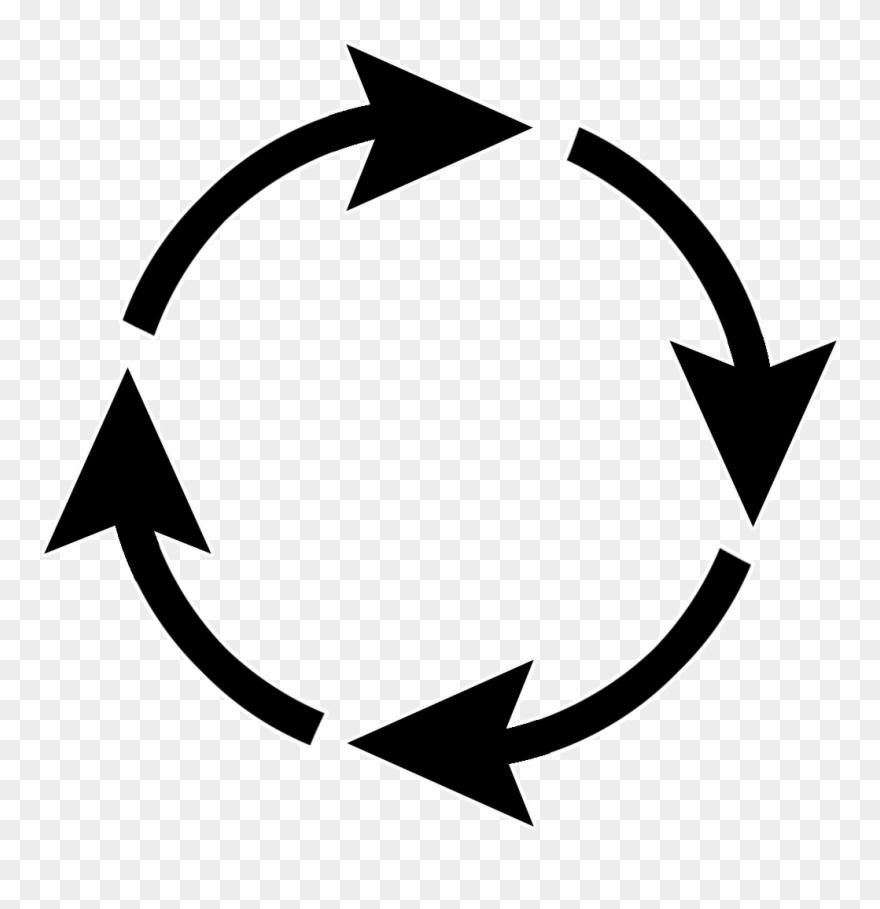 Arrow Sign Circle - Arrow Circle Png Clipart