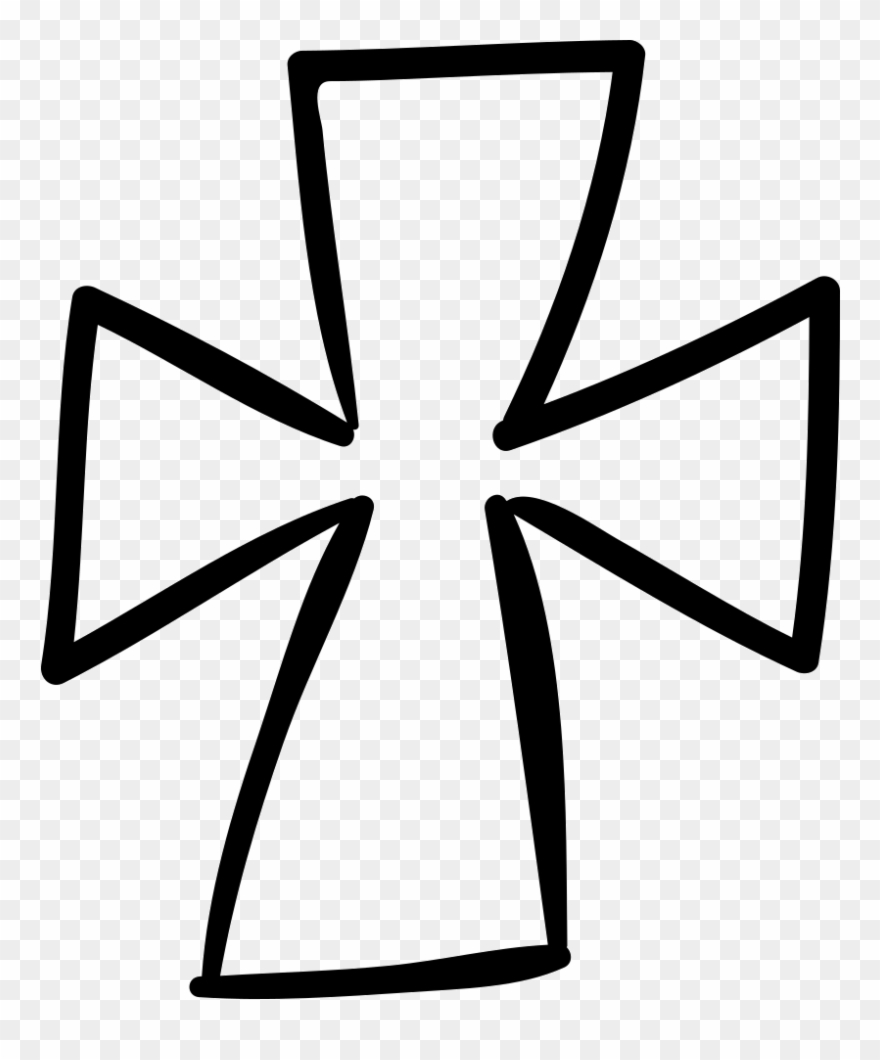 Pen Clipart Hand Drawn - Hand Drawn Cross Svg - Png Download
