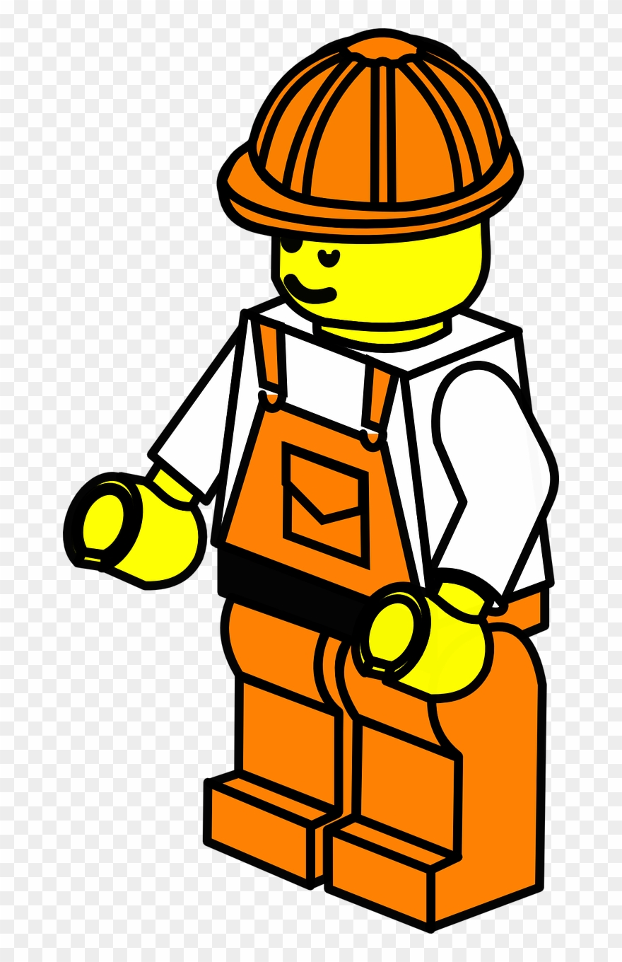 Construction Worker - Lego Construction Clip Art - Png Download