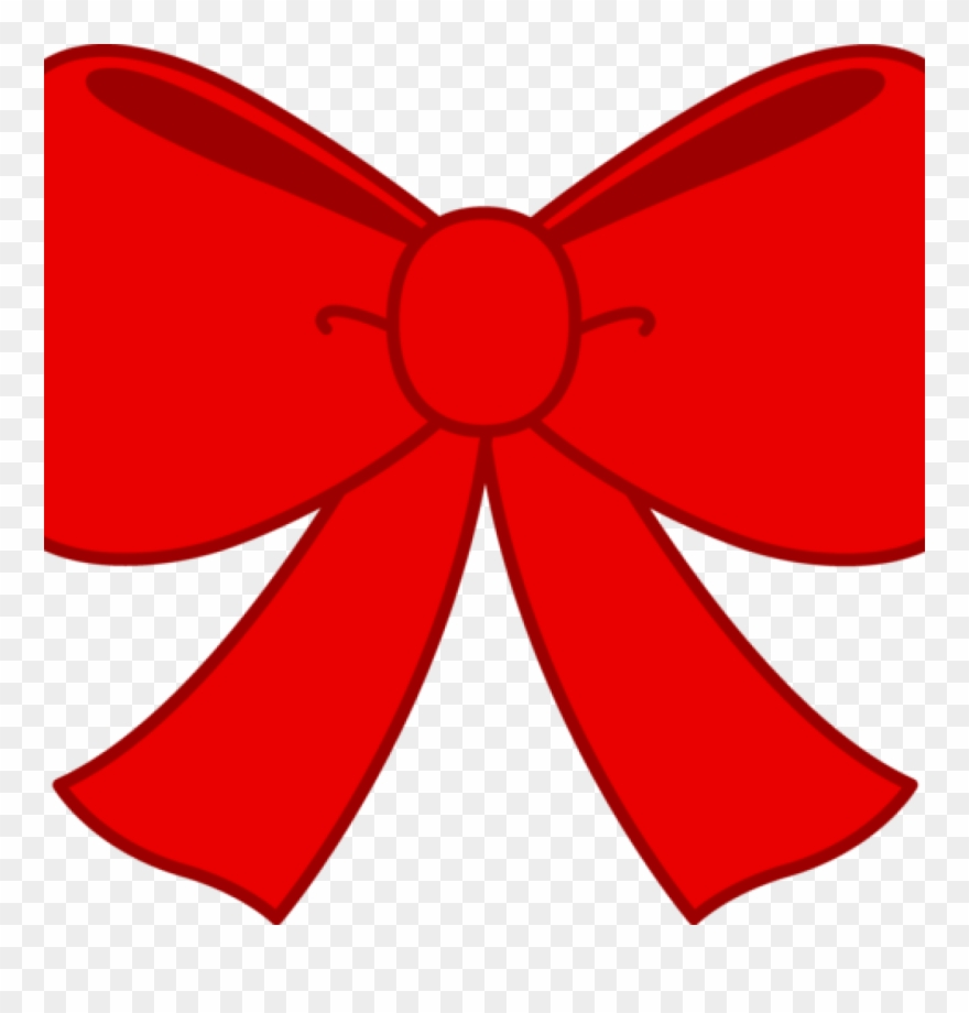 Ribbon red. Bow clipart cute free