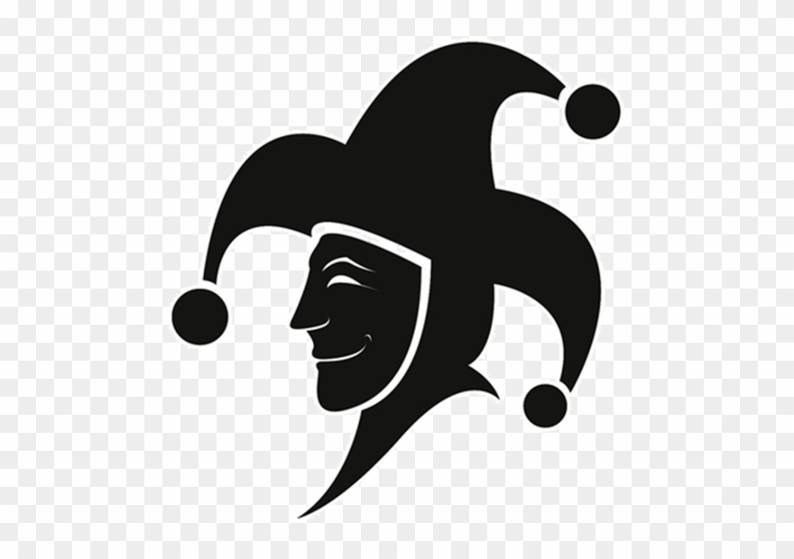 Jester Black And White Clipart