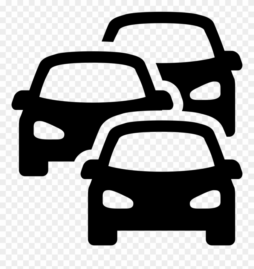 Clipart Free Stock Cars Svg Above Traffic Jam Icon Png Transparent