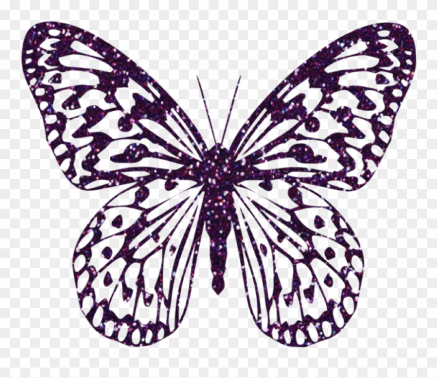 Purple Decorative Butterfly Png Clipart Image Pink Transparent Png