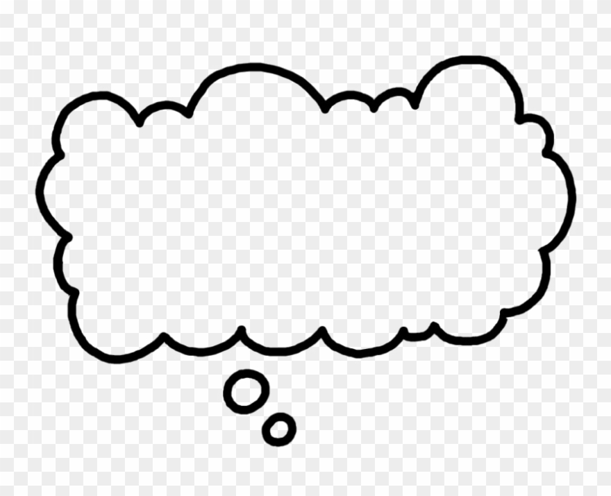 photo about Printable Thought Bubble named Thing to consider Bubble Png Impression - Clear Concept Cloud Clipart