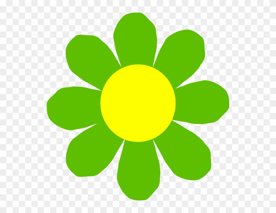 Flower green. Yellow clipart png download