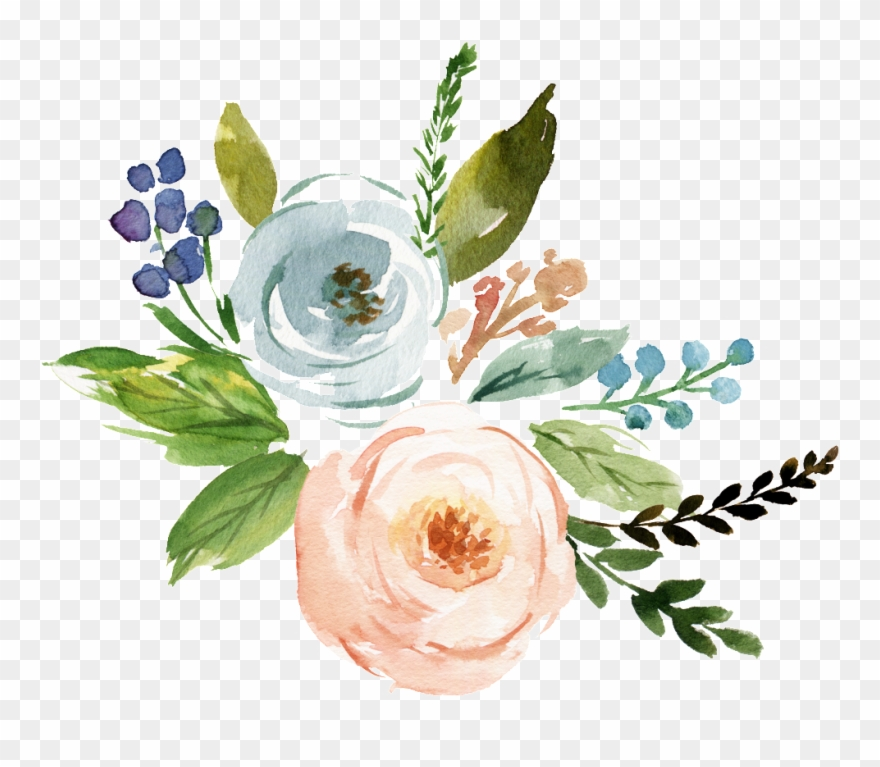 Fine Watercolor Flower Transparent - Watercolor Flowers Transparent Png Clipart