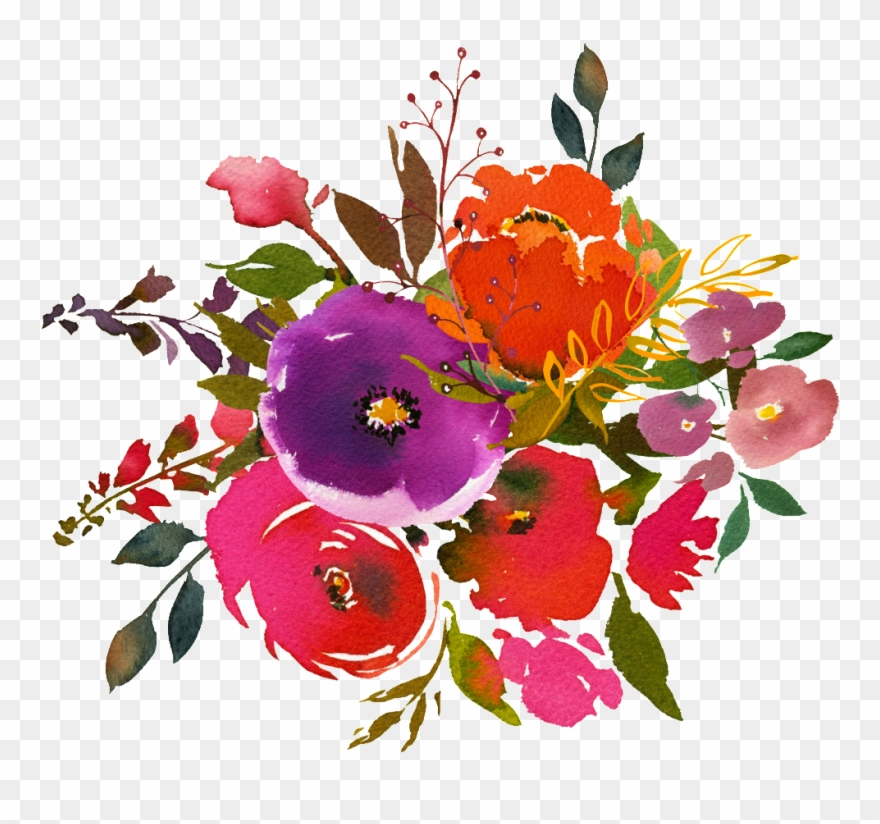 Hand Painting Watercolor Flower Png Transparent On - Watercolor Painting Clipart