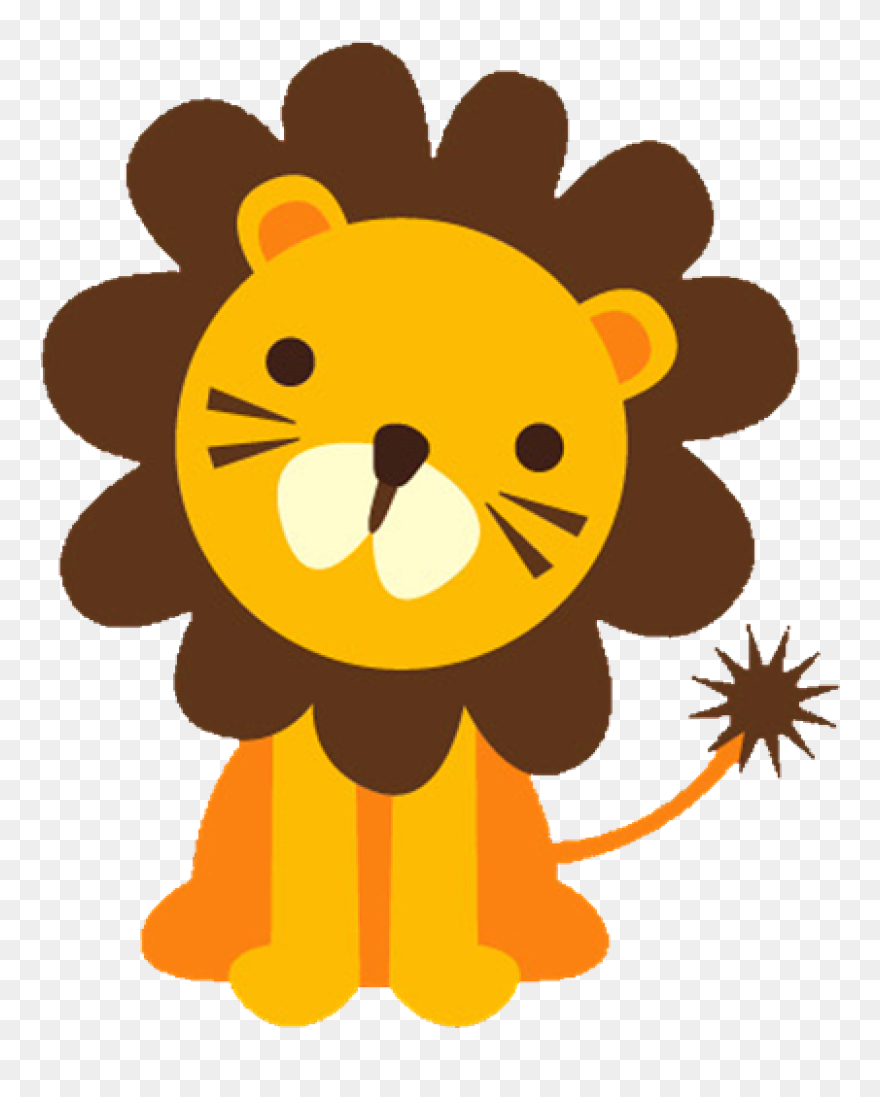 Baby Lion Clipart Baface 71 With Clipart Ba Shower Big And Small Animals Png Download 444715 Pinclipart