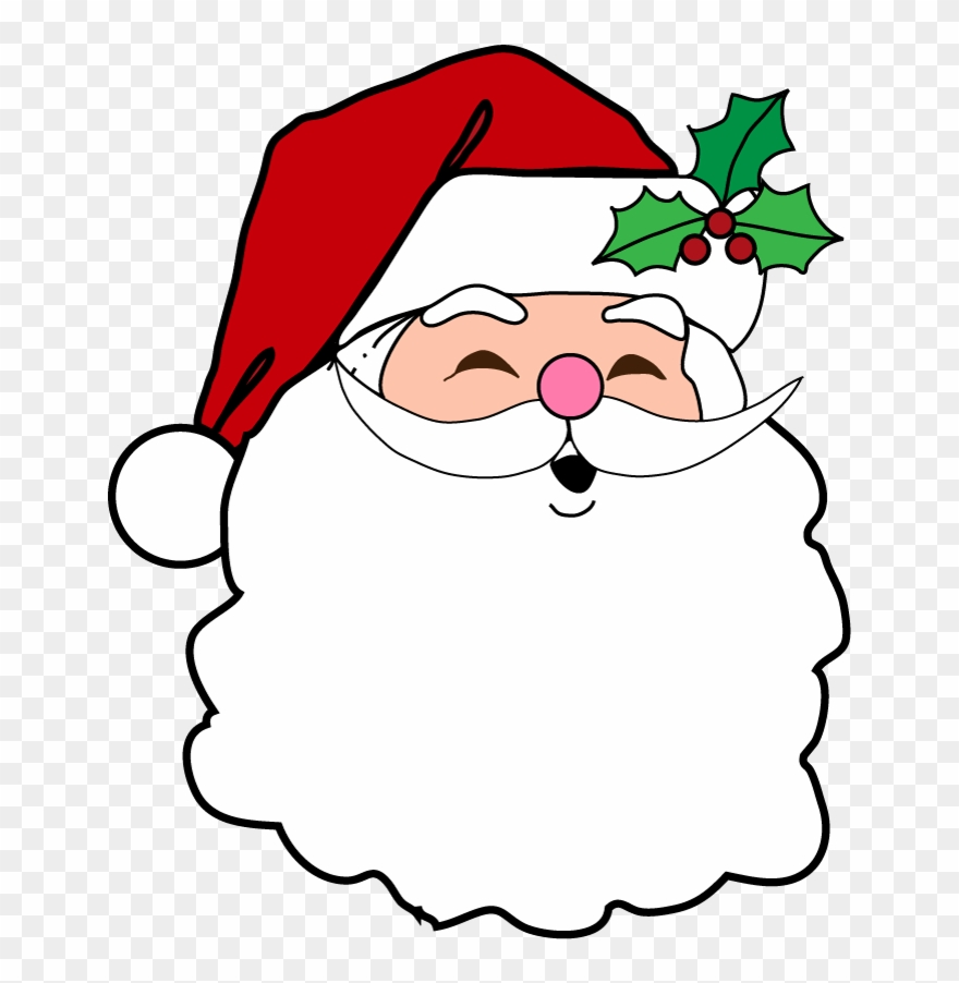 Christmas Santa Face Transparent Images Christmas Party Invitation Card Clipart 446163 Pinclipart