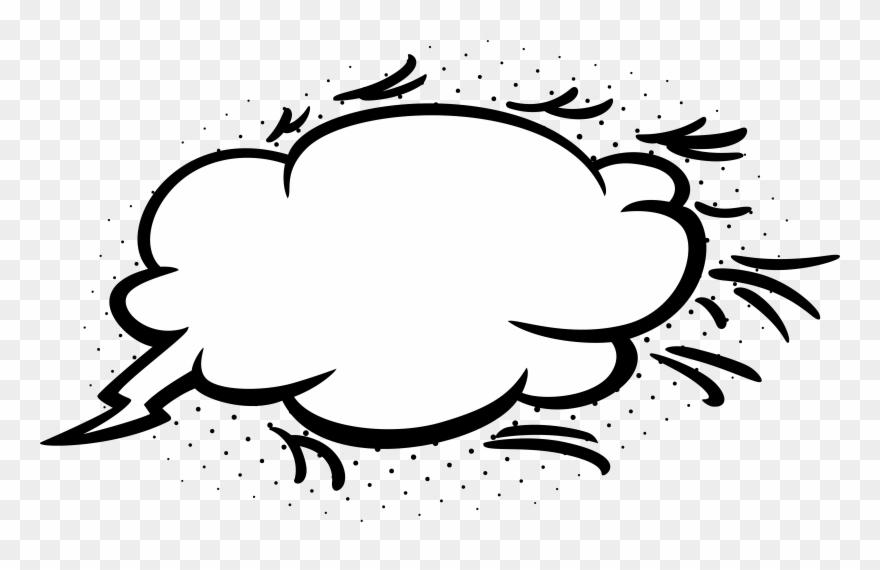 Domain Clipart Bubble Cloud - Transparent Comic Cloud Png