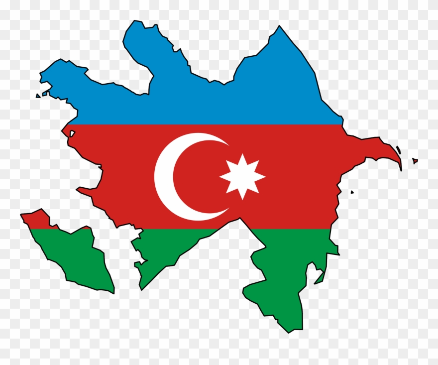 World Flags Clipart Azerbaijan Flag Map Png Download 448503