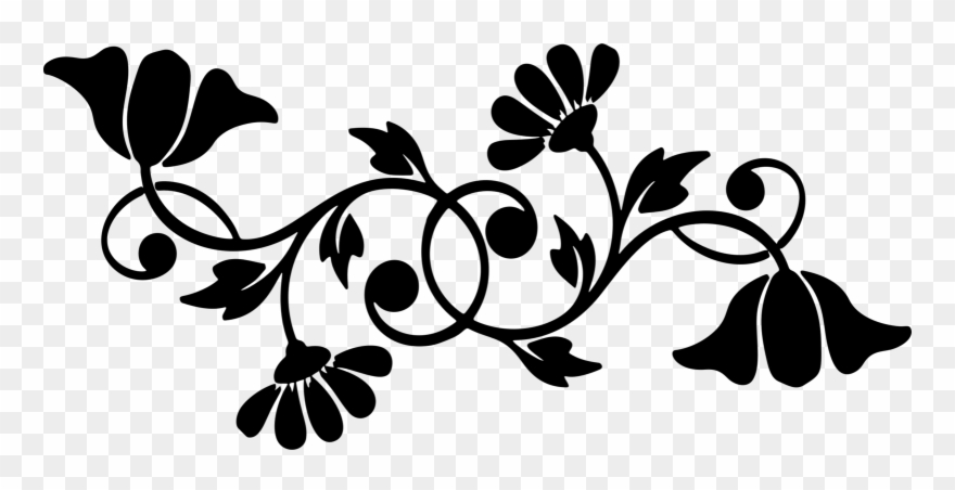 All Photo Png Clipart - Flower Png Floral Silhouette