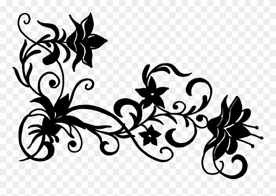Free Flower Vector Silhouette Flower Design Png Black And White