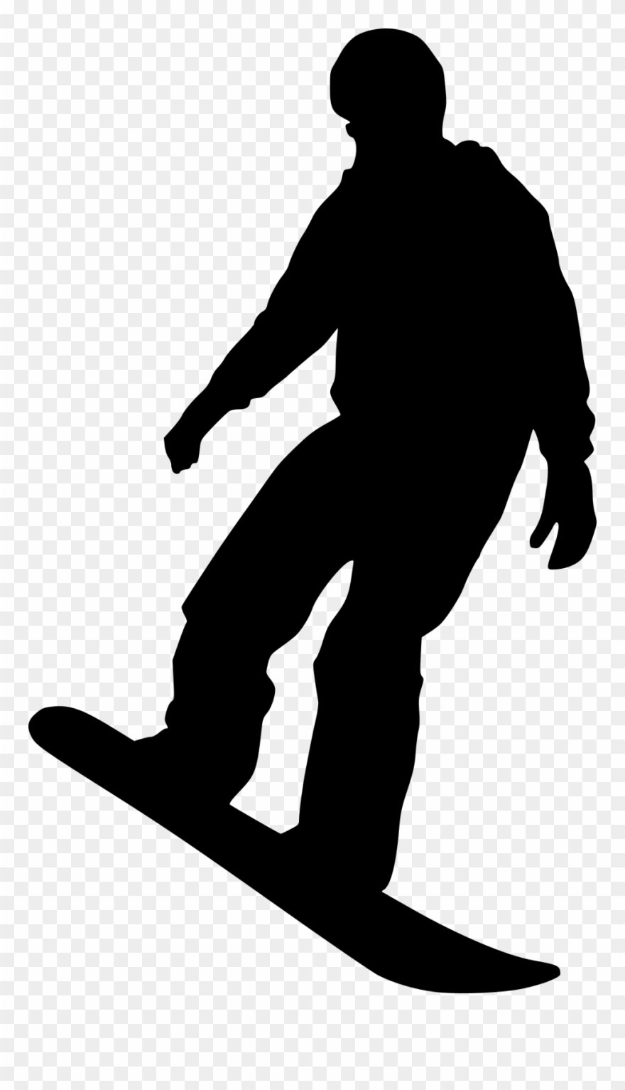 Free Download Silhouette Snowboarder Png Clipart 4440930 Pinclipart