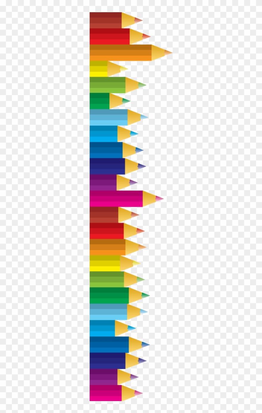 Pencil Colored Pencils Clipart Transparent Images Free - Pencil Border Clipart - Png Download