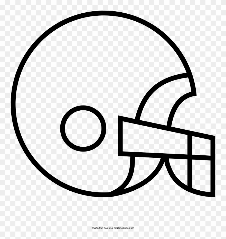 - Football Helmet Coloring Page - Line Art Clipart (#4457252