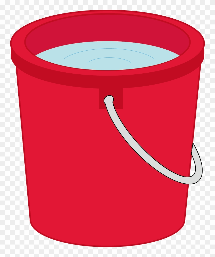 Water bucket. Clipart red vector png