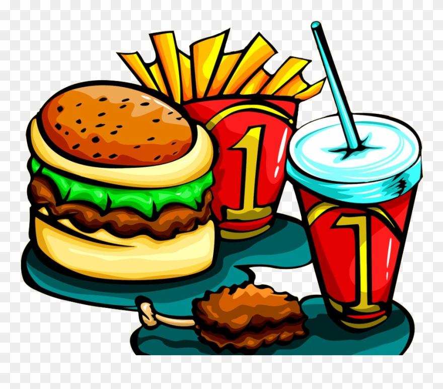 Cartoon Burger And Fries - Burger Png Cartoon Png Clipart