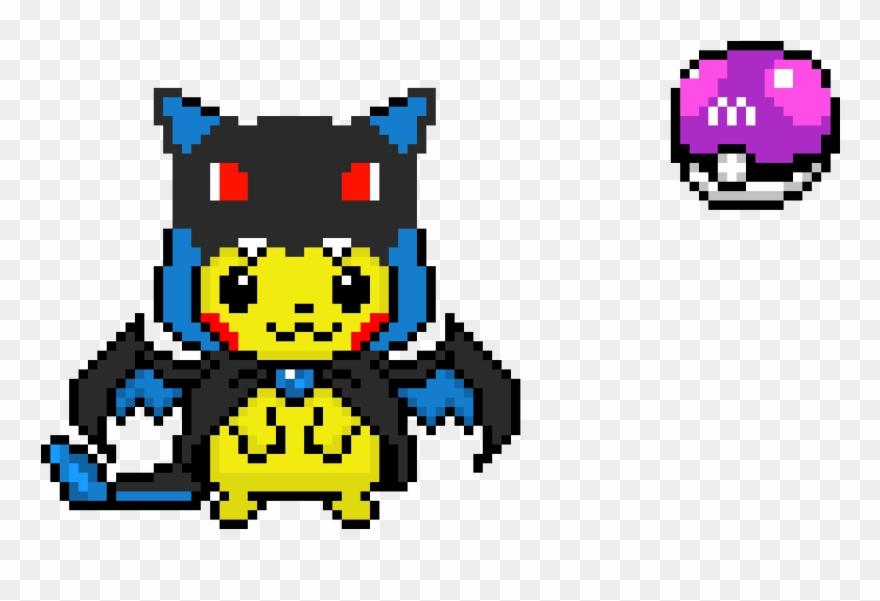 Master Ball Pikachu With Charizard Pikachu Charizard Pixel Art Clipart 4490061 Pinclipart