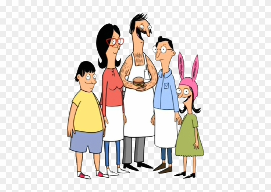 Family Clipart Transparent Background - Bob's Burgers First Episode - Png Download