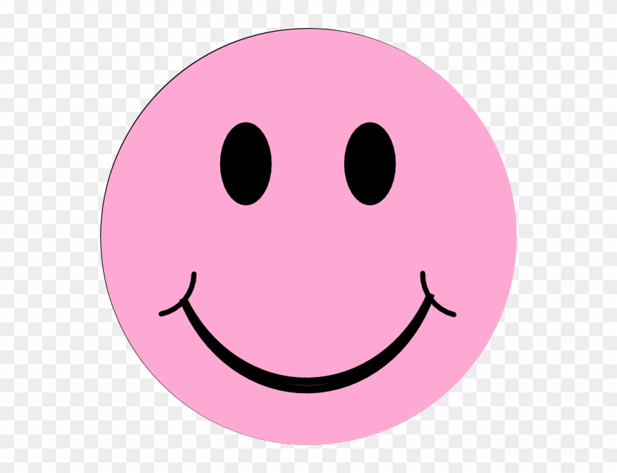 Smiley face pink. Clipart info light png