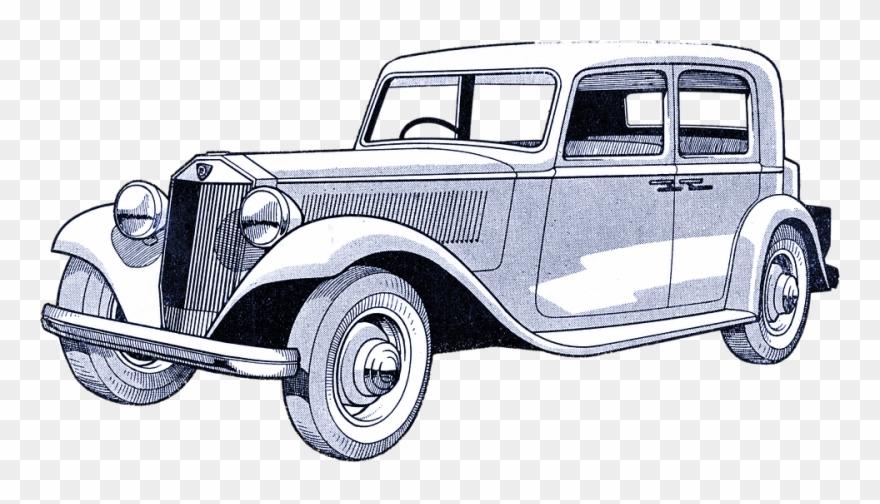 Vintage Car Illustrations Carro Antigo Desenho Png Clipart