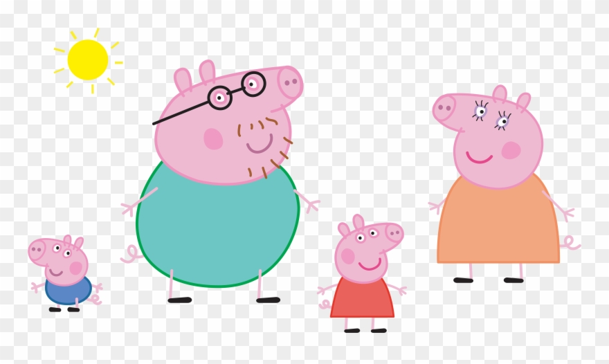 Peppa Pig Family Png Clipart 454399 Pinclipart