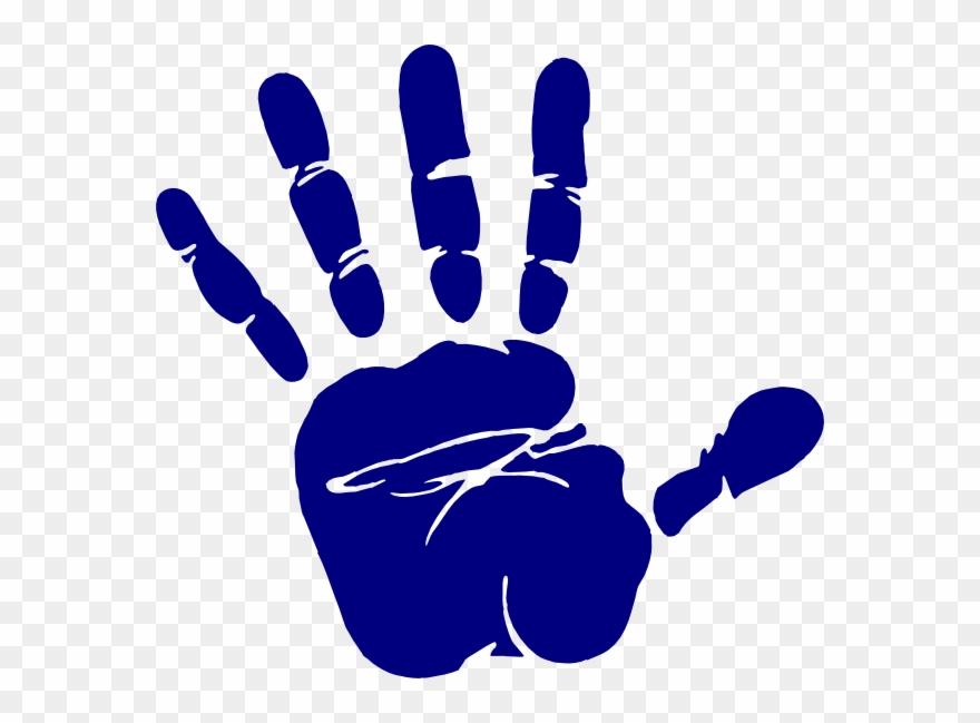 Hand transparent. Stock blue print clip
