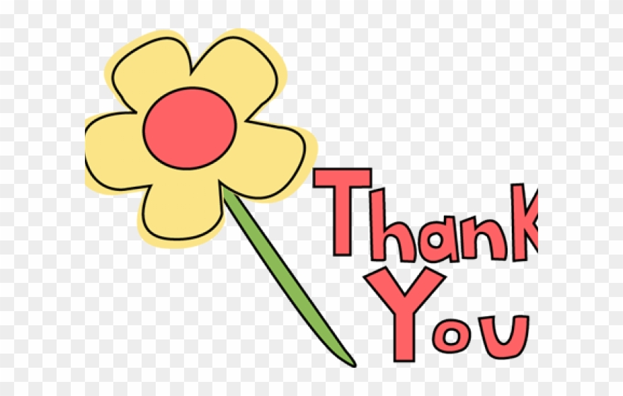 Thank you flower. Clipart banner flowers png