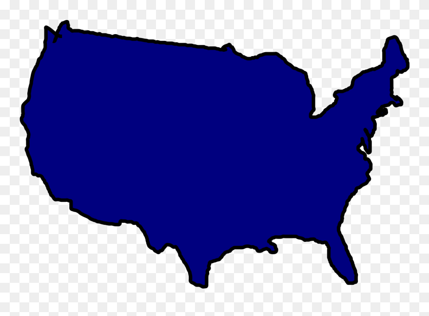 United States Map Clipart Free Download Best United - Us Map Outline ...