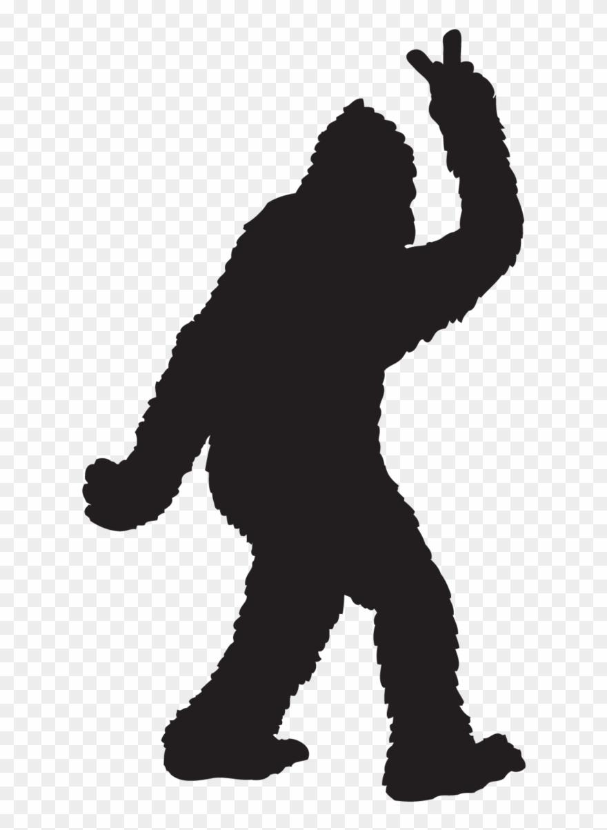 Bigfoot Throwing Peace Sign Sticker Bigfoot Decal