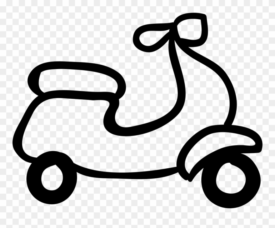 Motorcycle Hand Drawn Outline Comments - Outline Images Of Vehicles Clipart