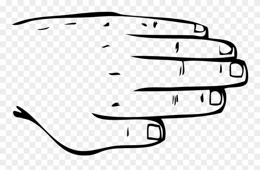 Part,free Vector Graphics - Back Of Hand Outline Clipart