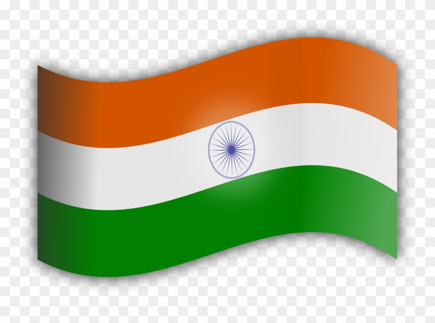 Flying Flag Of India Clipart