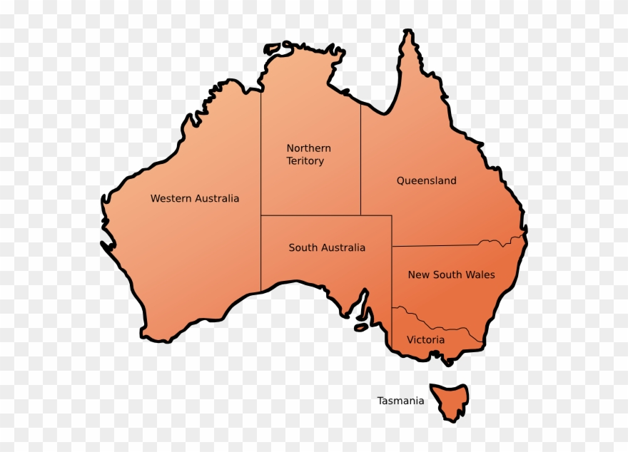 Map Of Australia Before Federation.Map Of Australia Before Federation Clipart 460324