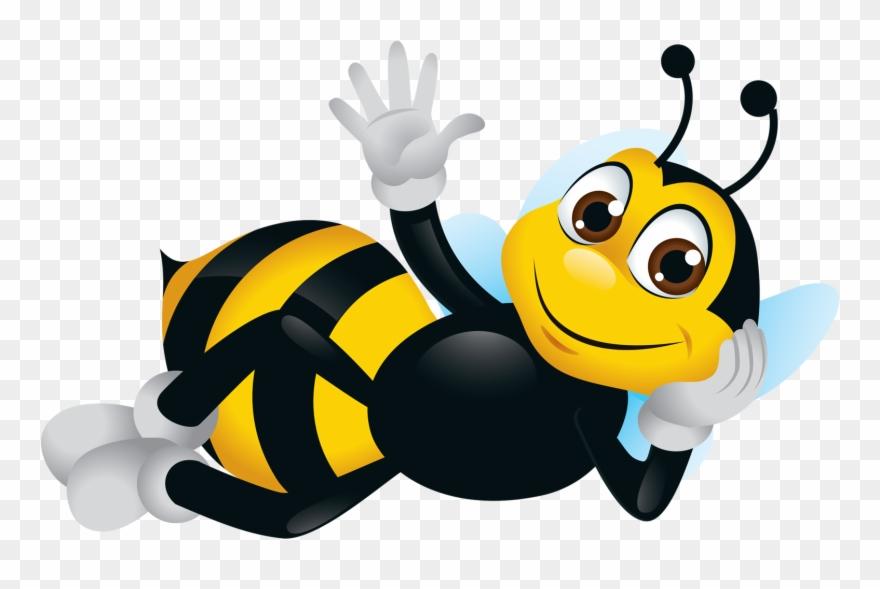 Bee Clipart Cartoon Bee Cute Bee Image Desenho Abelha Fundo
