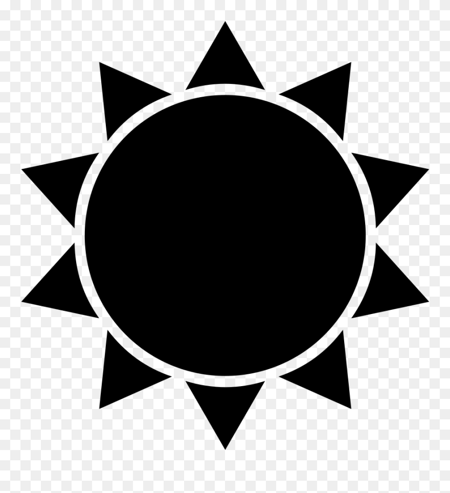 Sun Silhouette Clip Art At Getdrawings - Flat Icon Sun - Png