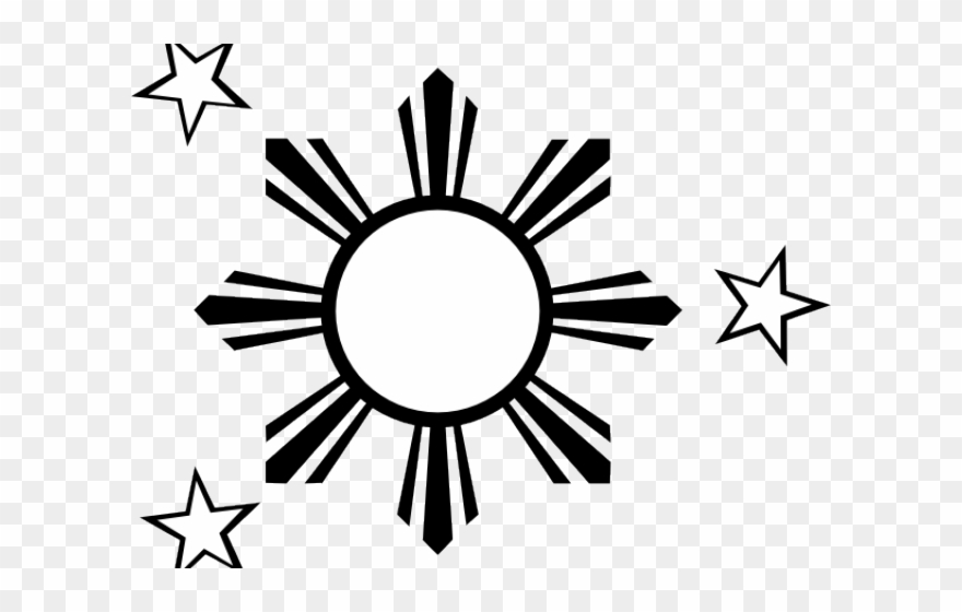 Drawn Stars Philippine Flag - Philippine Sun Icon Png Clipart