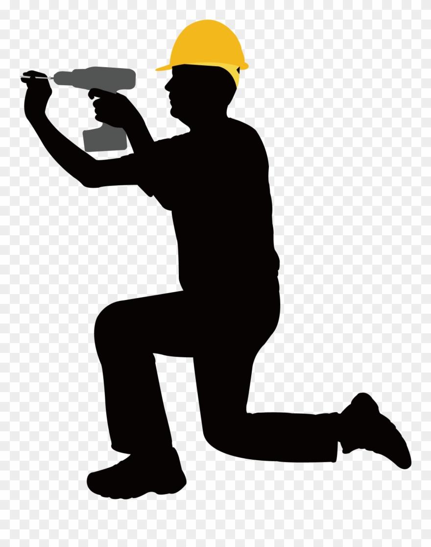 Construction Clipart Laborer - Clip Art Construction Worker - Png Download