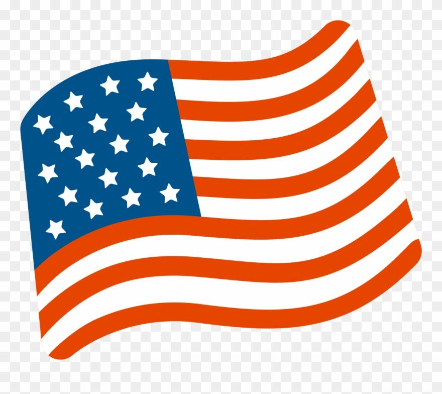 Usa Flag Waving Png - Us Flag Emoji Png Clipart (#476195