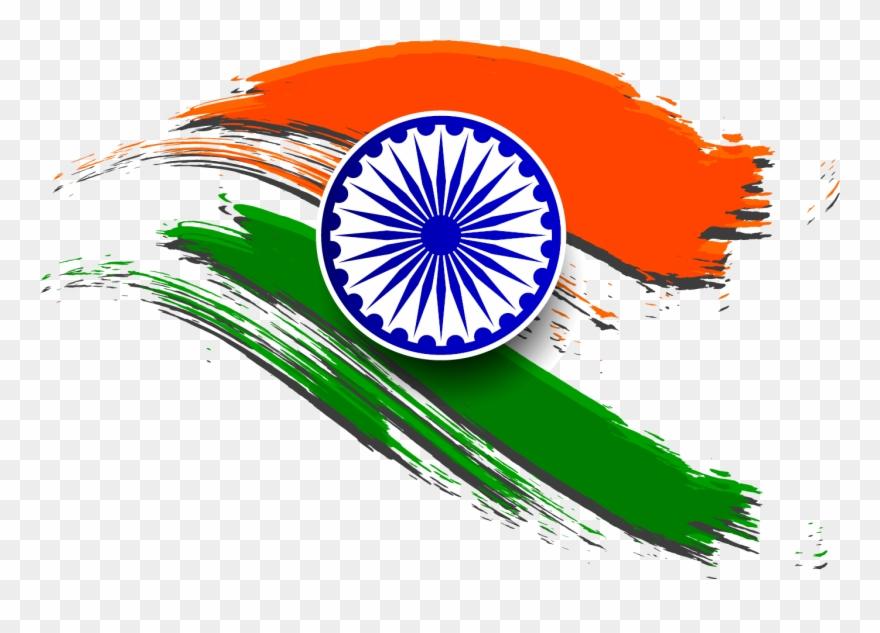 India Transparent Clipart - Indian Flag Logo Png