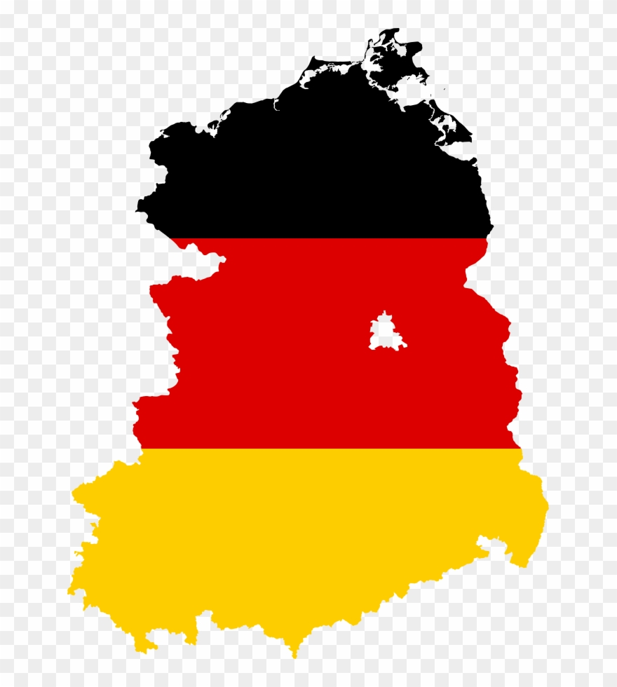 Flag Map Of East Germany - Flag Map Of West Germany Clipart (#476377 ...