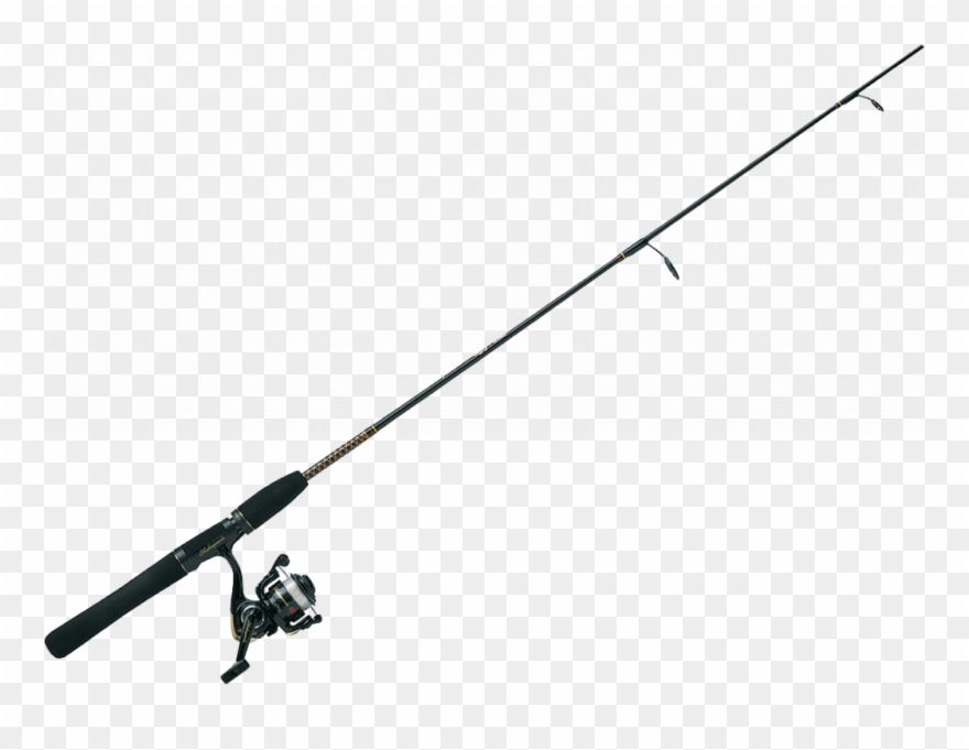 Clip Art Black And White Download Clipart Fishing Pole Transparent Background Fishing Rod Clipart Png Download 482008 Pinclipart