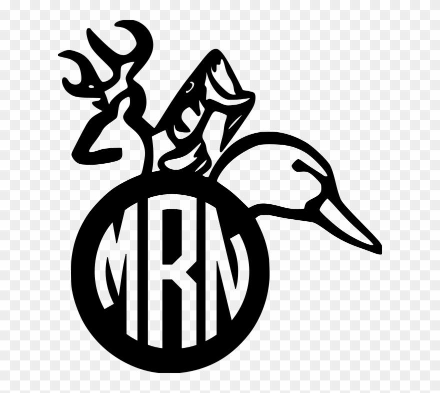 Download Fish Clipart Monogram Deer Fish Duck Monogram Png Download 482037 Pinclipart