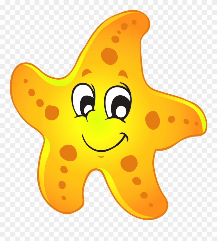 Starfish yellow. Clip art png download