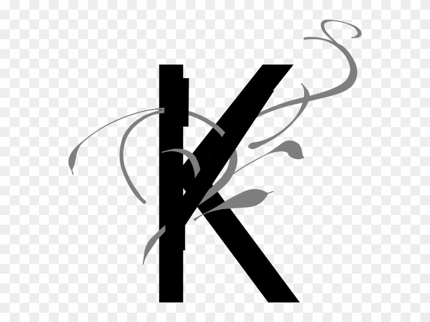 02cbbb08813 Png Stock Letter Clip Art At Clker Com Online - Fancy Letter K Transparent