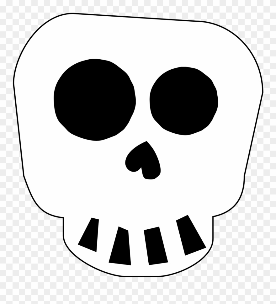 picture regarding Free Printable Halloween Clipart titled Cost-free Printable Halloween Skull Decoration Banner - Adorable