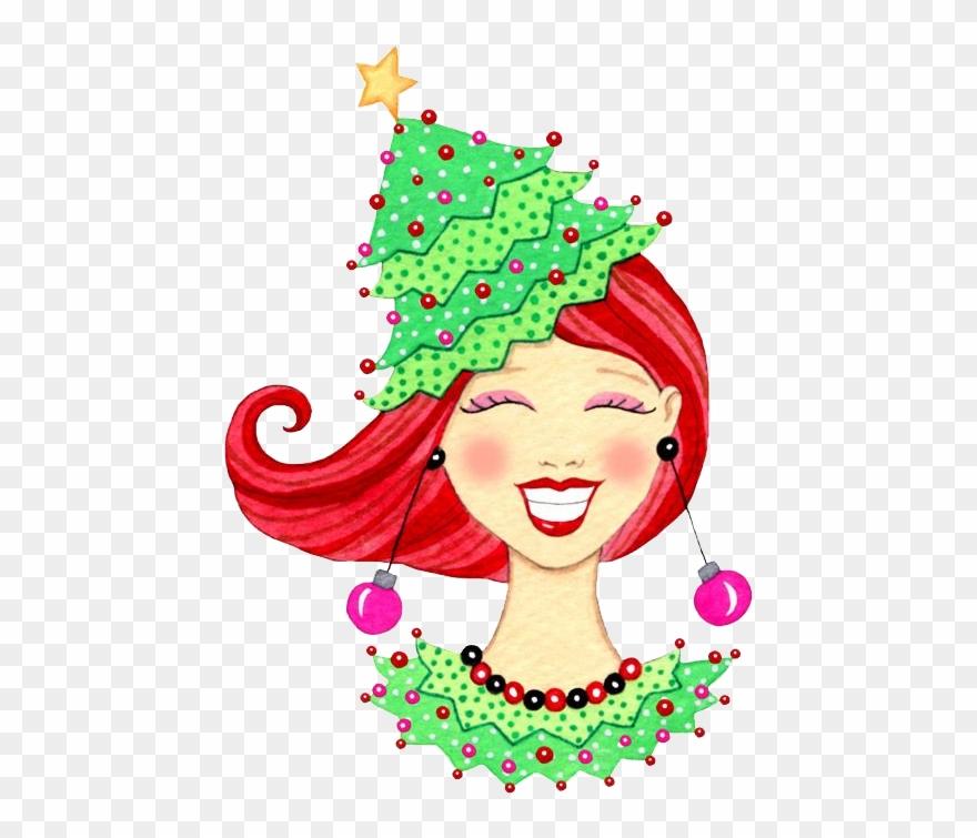 Christmas Girl Face Weihnachts Clipart Weihnachtsbilder Redhead