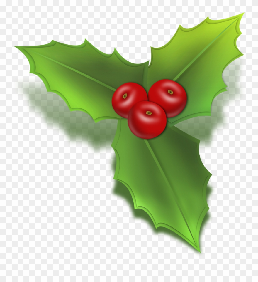Christmas Holly Clipart Transparent.Free Christmas Holly Clip Art Christmas Mistletoe Icon Png