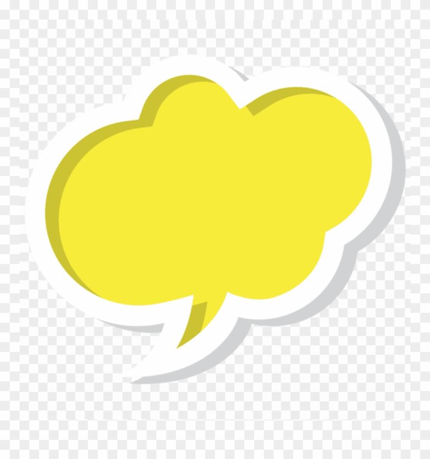 Download Bubble Speech Cloud Yellow Clipart Png Photo